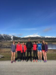 With some of the women's endurance group at Lac de Matemale