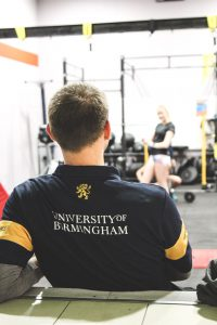Matt observing a strength and conditioning session