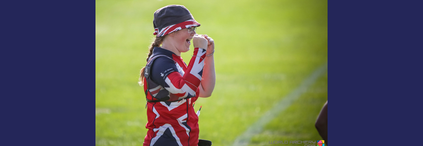 Archery World Cup Silver for Eleanor